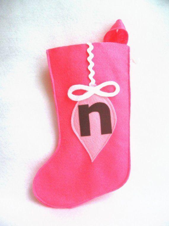 cute monogram idea for stockings