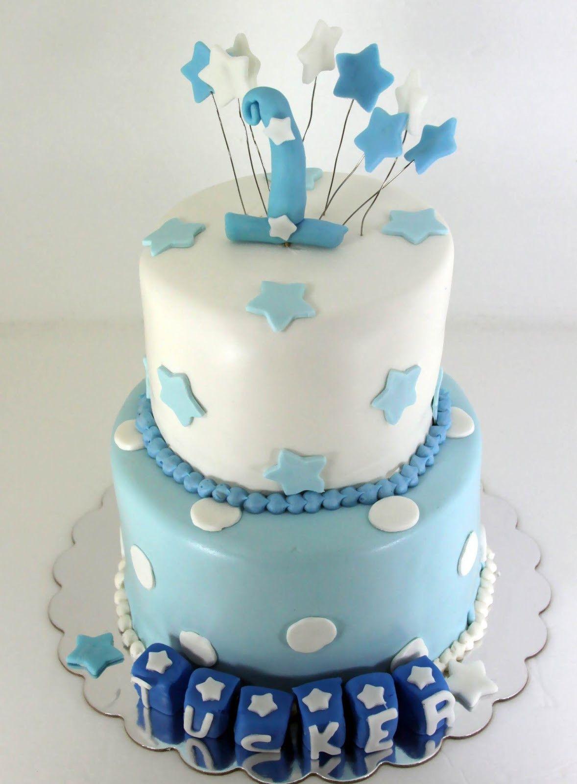 Birthday Cake Pic Fresh Tastefully Done Baby Boy Blue 1st Birthday