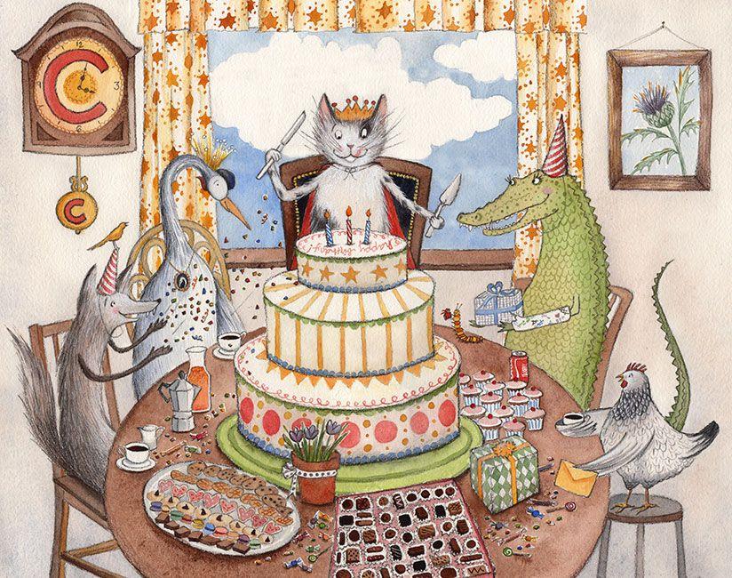 Открытки днем рождения кошки