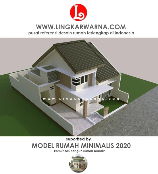 Gambar Kerja Rumah Dengan Atap Miring
