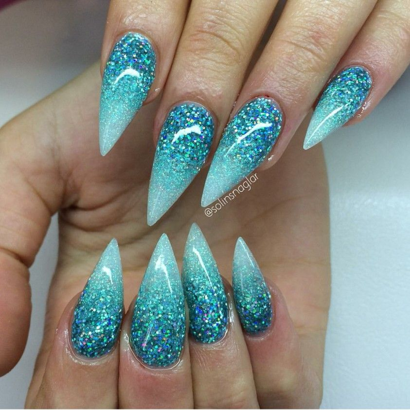 Ombre Blue Sparkles 3 Colours