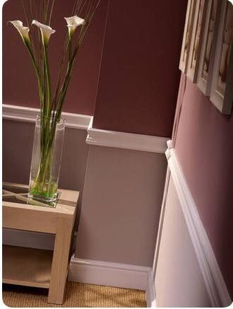 Take A Look At This Beautiful Two Tone Wine Inspired Interior Paint Job!  #chairrail #inspiration #marsalawine