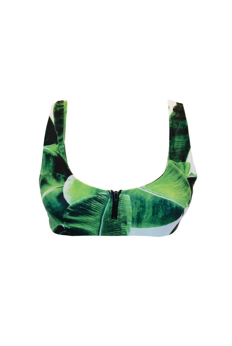 Stone Fox Swim Banana Leaf Zoey Top | Shop now at stillandsea.com or in-store at 2110 S Lamar #ATX 78704