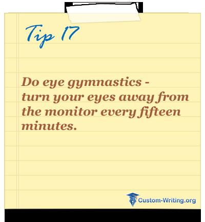 college #essay #writing tip #motivation Do eye gymnastics - turn ...