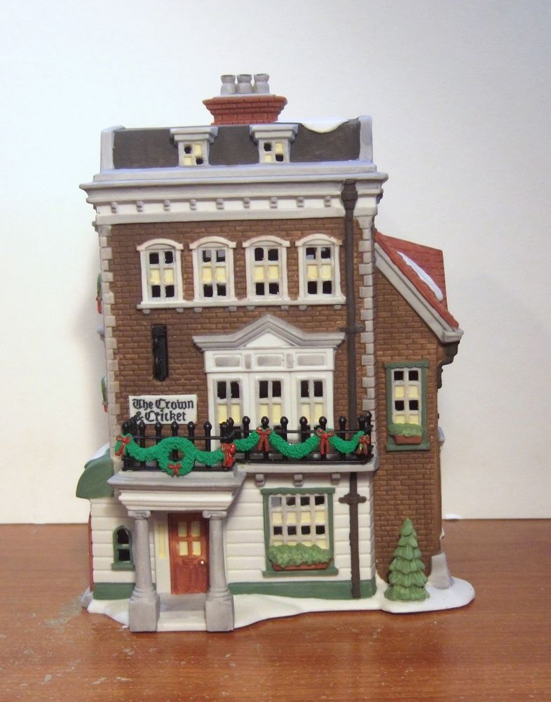 Dept 56 Crown Cricket Inn 1st Edition Signed By Barbara Lund 57509 Nib Dept 56 Dickens Village Dept 56 Dickens Village