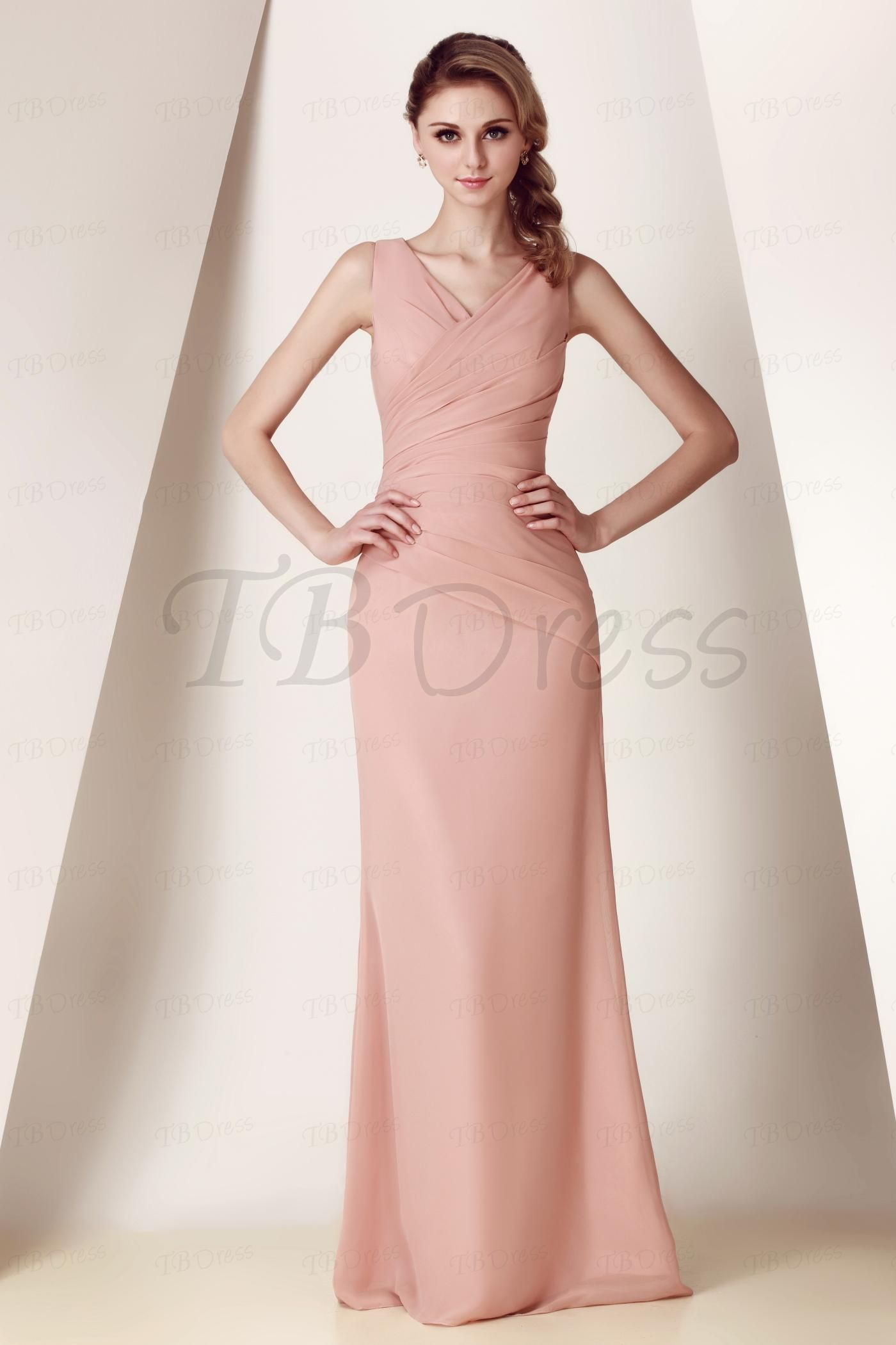 elegant vneck floorlength dashaus bridesmaid dress