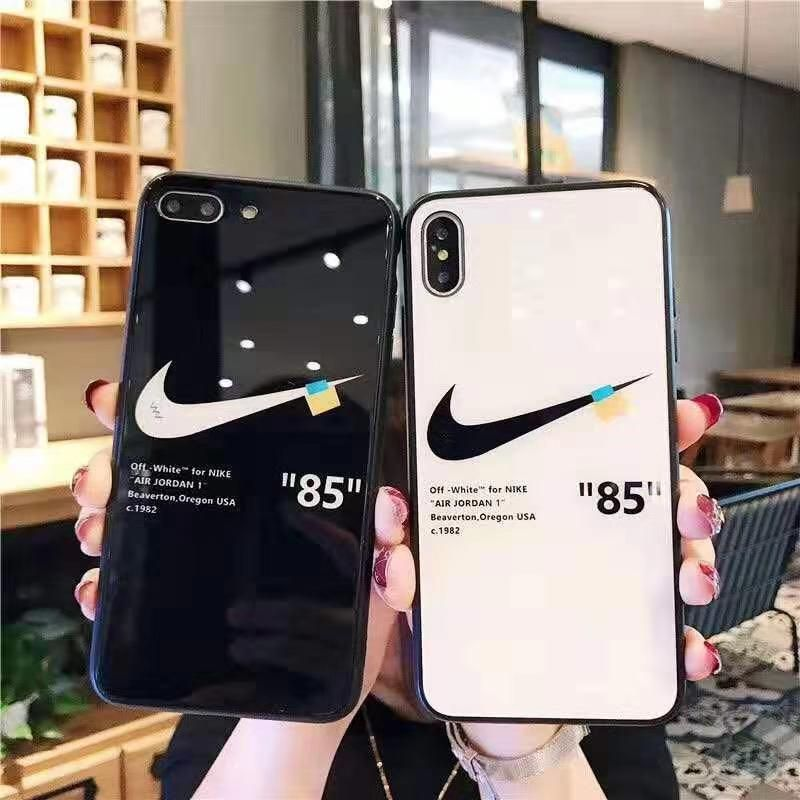 Off White X Nike Tempered Glass Iphone Case Nike Iphone Cases Iphone Case Protective Nike Phone Cases