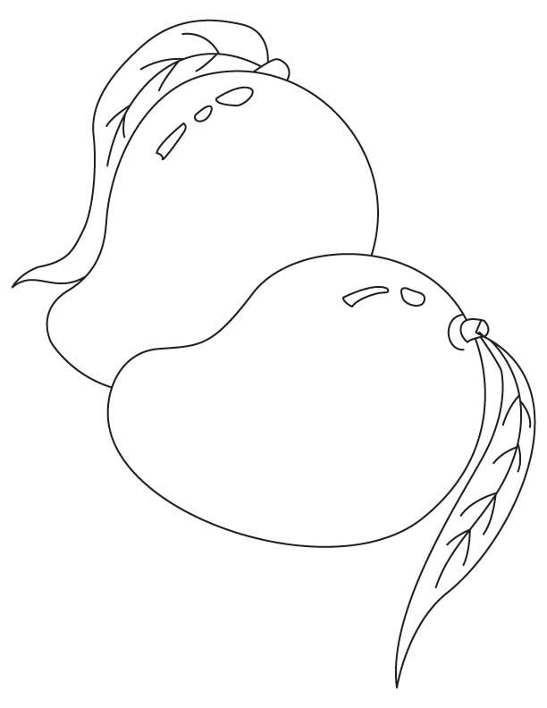 Line Art Mango : Printable pages for coloring adults fruits google