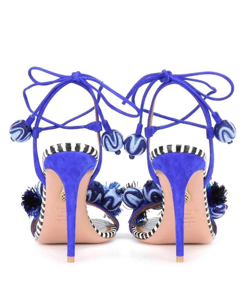Aquazzura - Tropicana 105 suede sandals | mytheresa.com