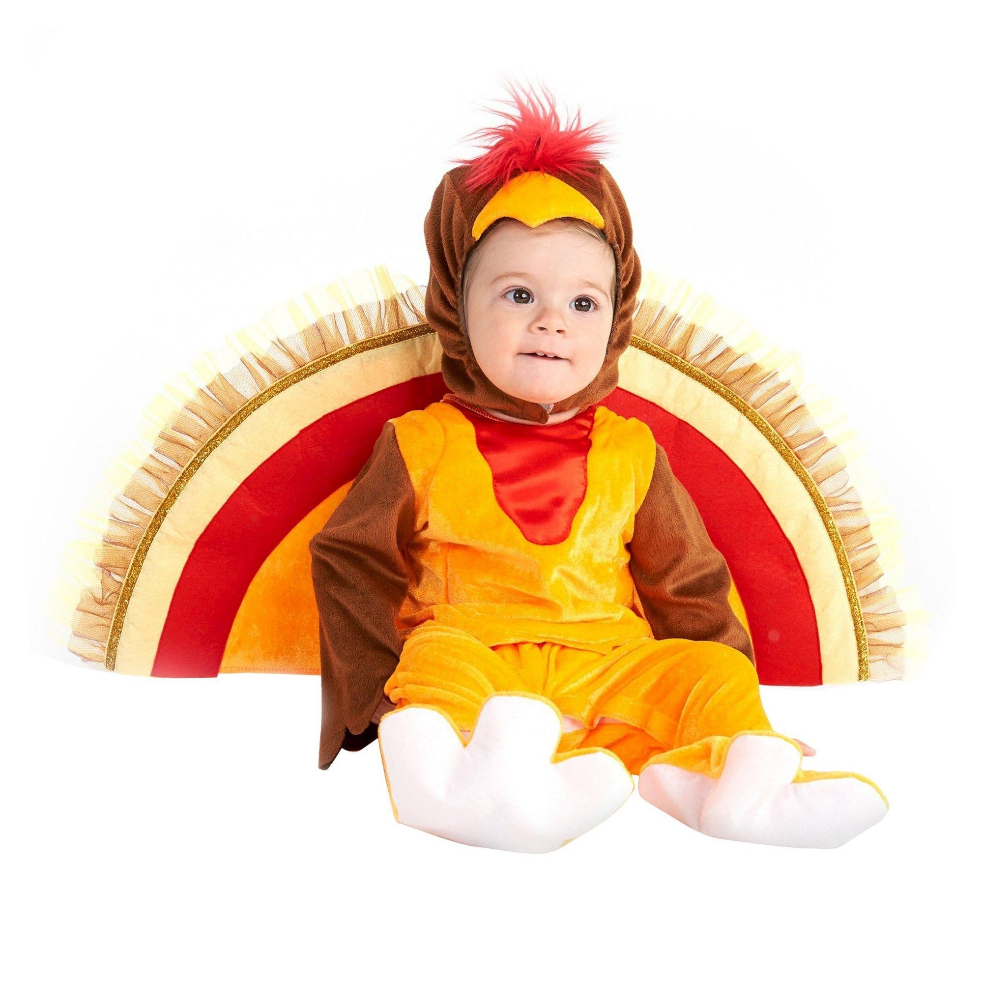 Brand New Thanksgiving Fleece Turkey Jumpsuit Child Costume M