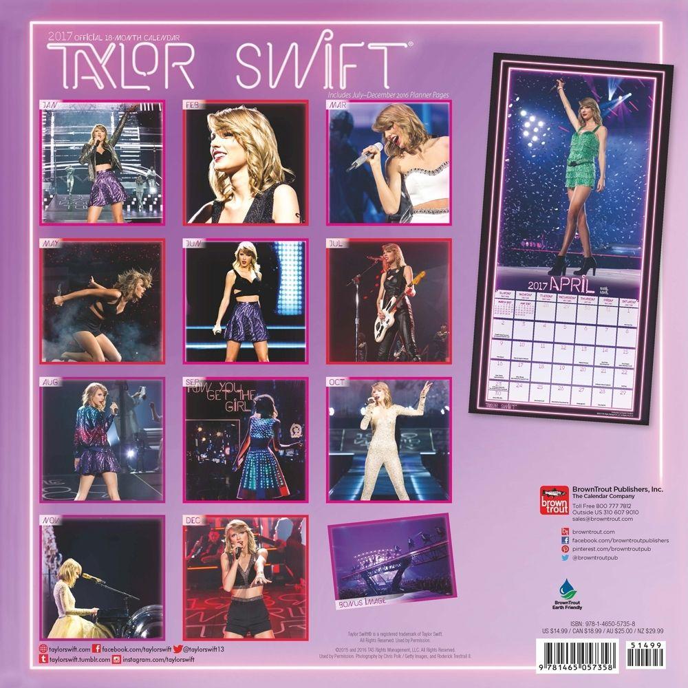 Taylor Swift 2017 Edition Calendar Multilingual Edition The
