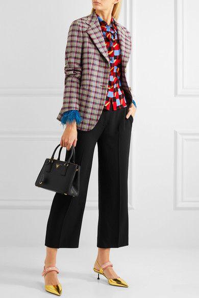 b38493437f Prada - Galleria Mini Textured-leather Tote - Black