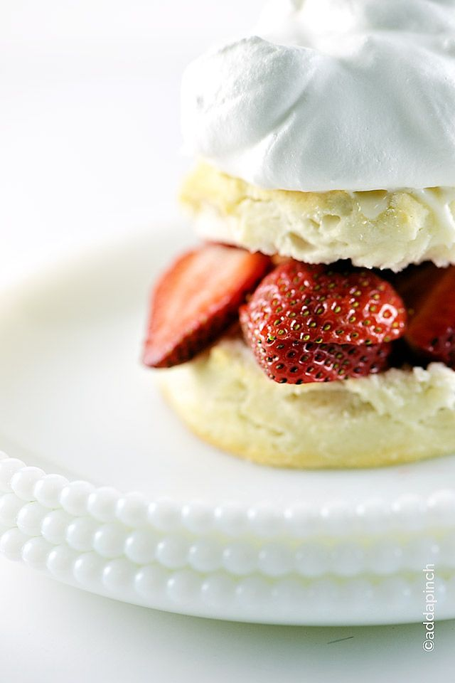 Strawberry Shortcake makes a classic dessert. Made of tender biscuits, topped with sweetened strawberries, and whipped cream, this simple strawberry shortcake is a favorite!