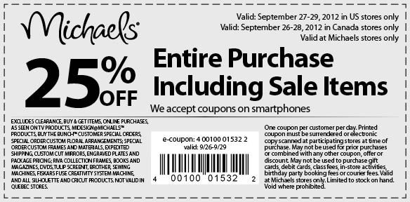 Canadian Daily Deals Michaels Canada 50 Off One Regular Priced Item Printable Coupon Dec 9 13