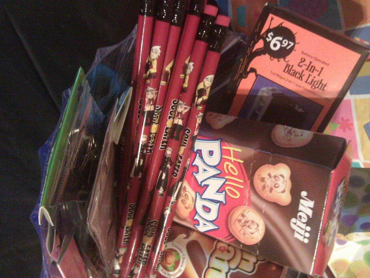 Anime themed birthday party loot prizes birthday