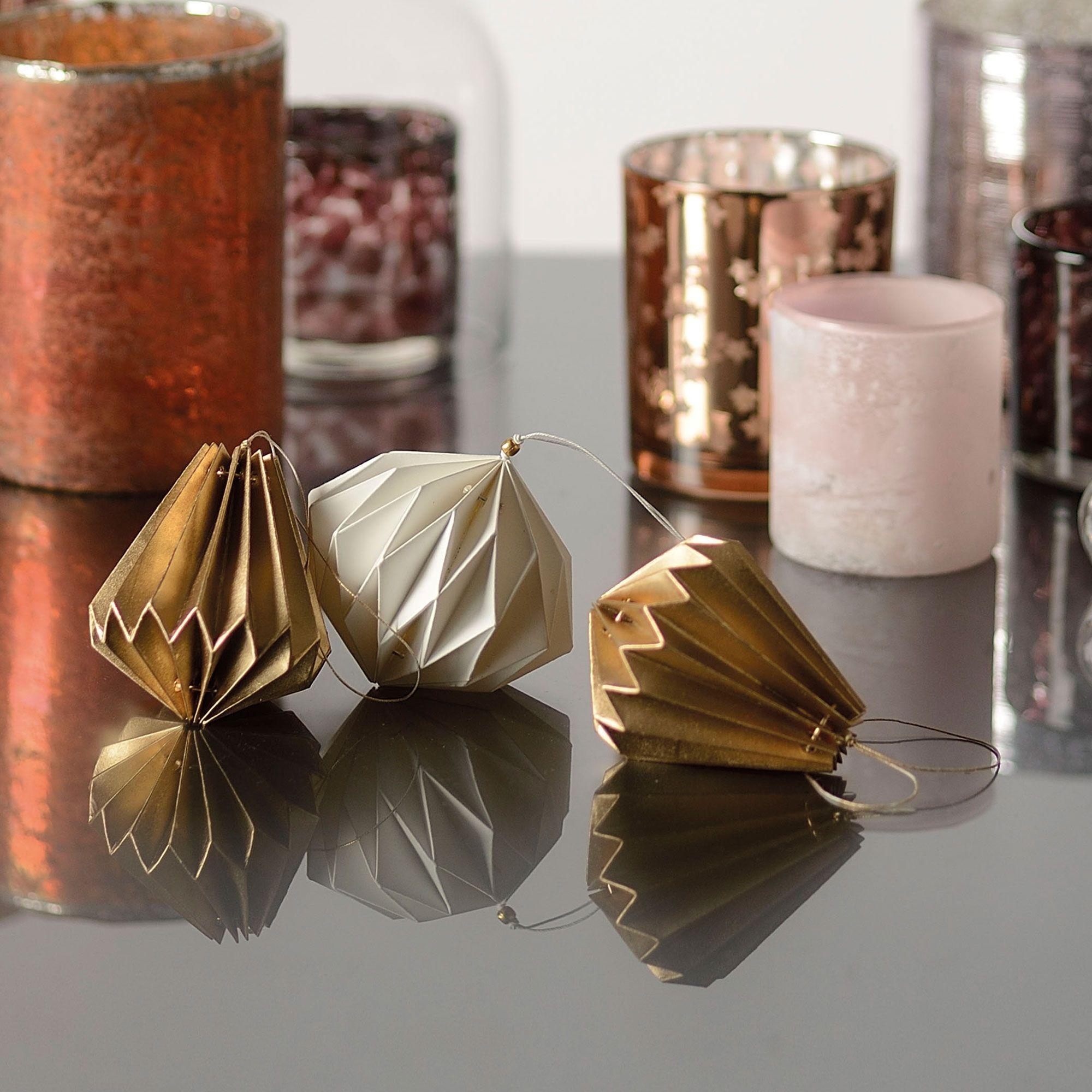 Diamant décoratif en papier à suspendre origami HOKAIDO Jardin d ...