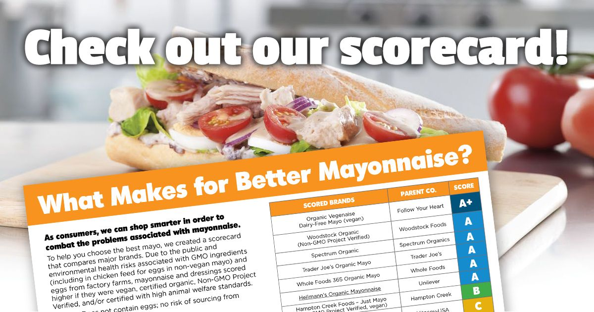 There's a lot more to mayonnaise than meets the eye. With GMOs and factory farmed eggs in many conventional brands, you and your potato salad deserve better – which is why we've found several great alternatives you can use instead.  Our updated GMO Inside mayo scorecard compares a number of leading brands, ranging from the very worst to …