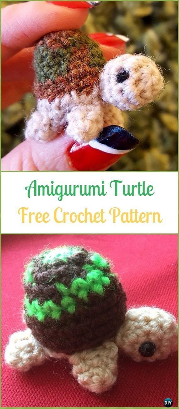 Crochet Turtle Amigurumi Toy Softies Free Patterns #crochetturtles Crochet Amigu…