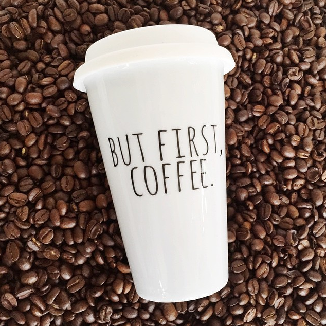 "Happy Sunday! Only 36 HOURS left for your chance to win two ""But First, Coffee"" travel mugs from A Cup Of Quotes! Enter here: www.stepinsidemycloset.com"