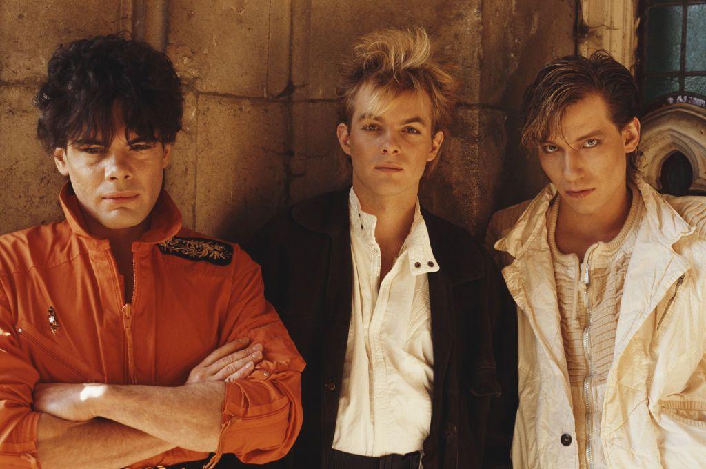 German synthpop group Alphaville, London, October 1984  Left