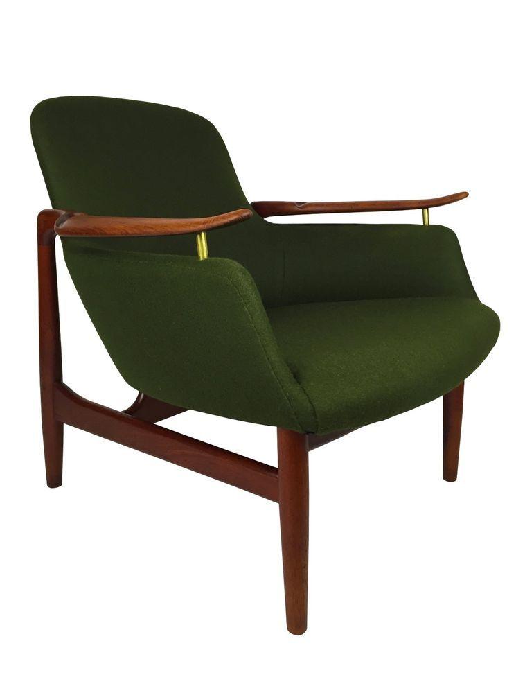 Teak Nv 53 Lounge Chair By Finn Juhl For Niels Vodder Mid Century