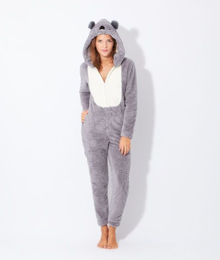 96d320c8cdf52 Combinaison Koala - VIKTOR - GRIS - Etam | onesie | Pyjama ...