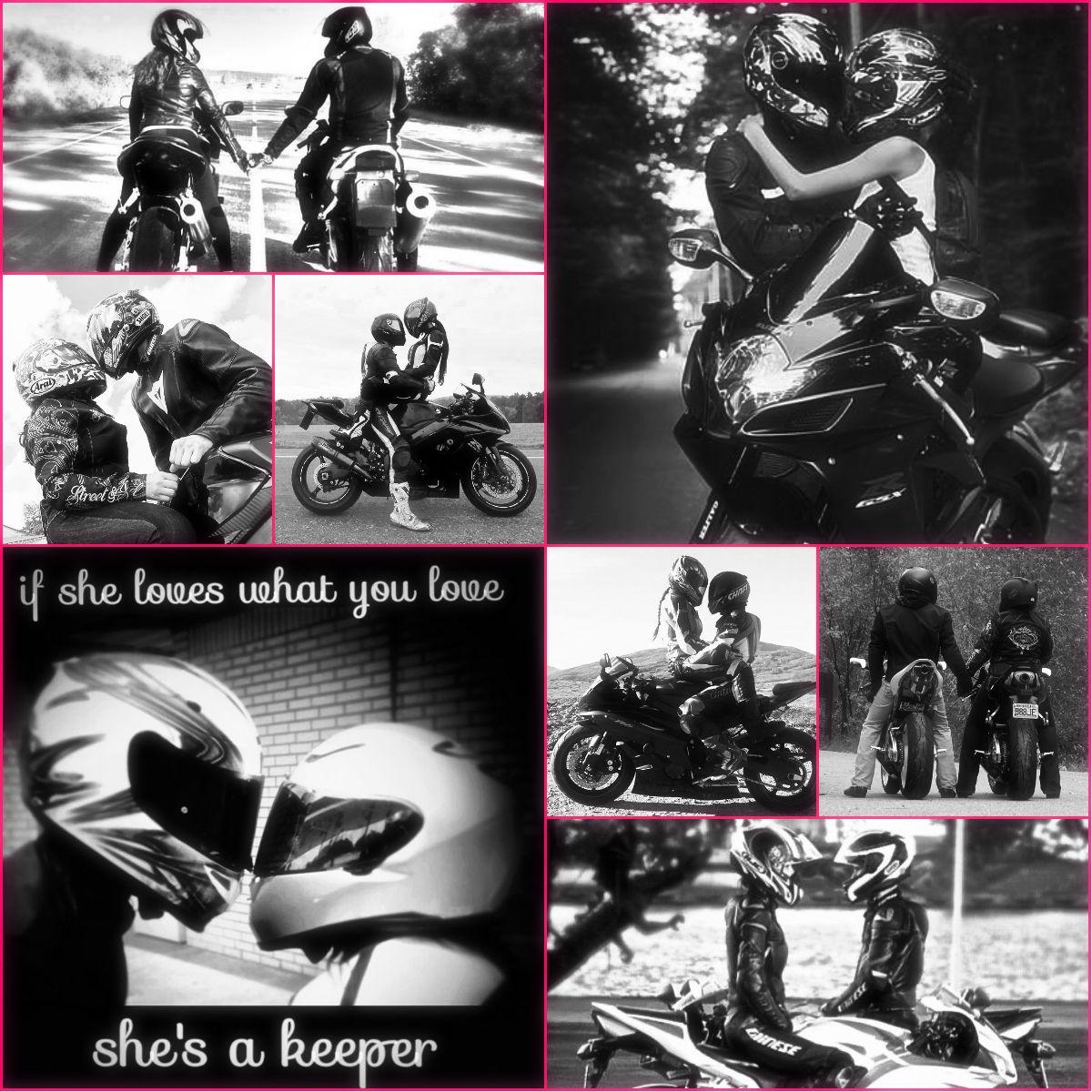 In a perfect world... A perfect love... Biker Love...  <3