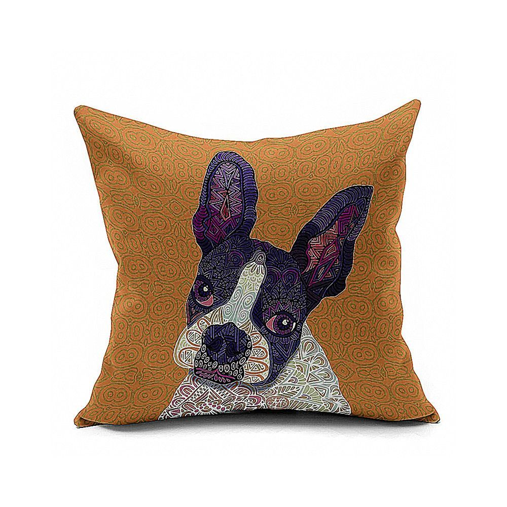 Cotton flax pillow cushion cover animal dw products