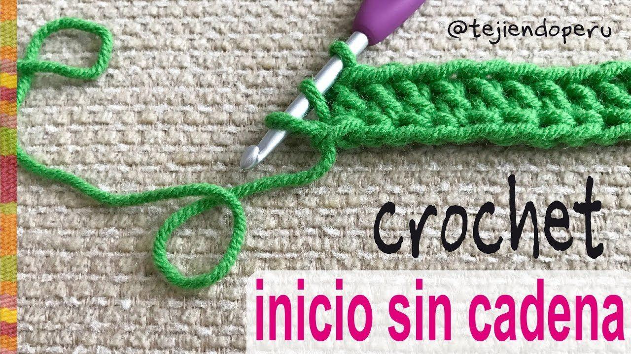 Cómo empezar el tejido a crochet ¡SIN CADENA DE INICIO! - Tejiendo ...