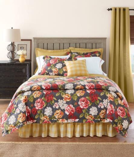 Make A Fresh Statement With Our Pure Cotton Vintage Inspired Floral Comforter And Shams Pair This Lovely Country Curtains Comforter Sets Cotton Comforter Set