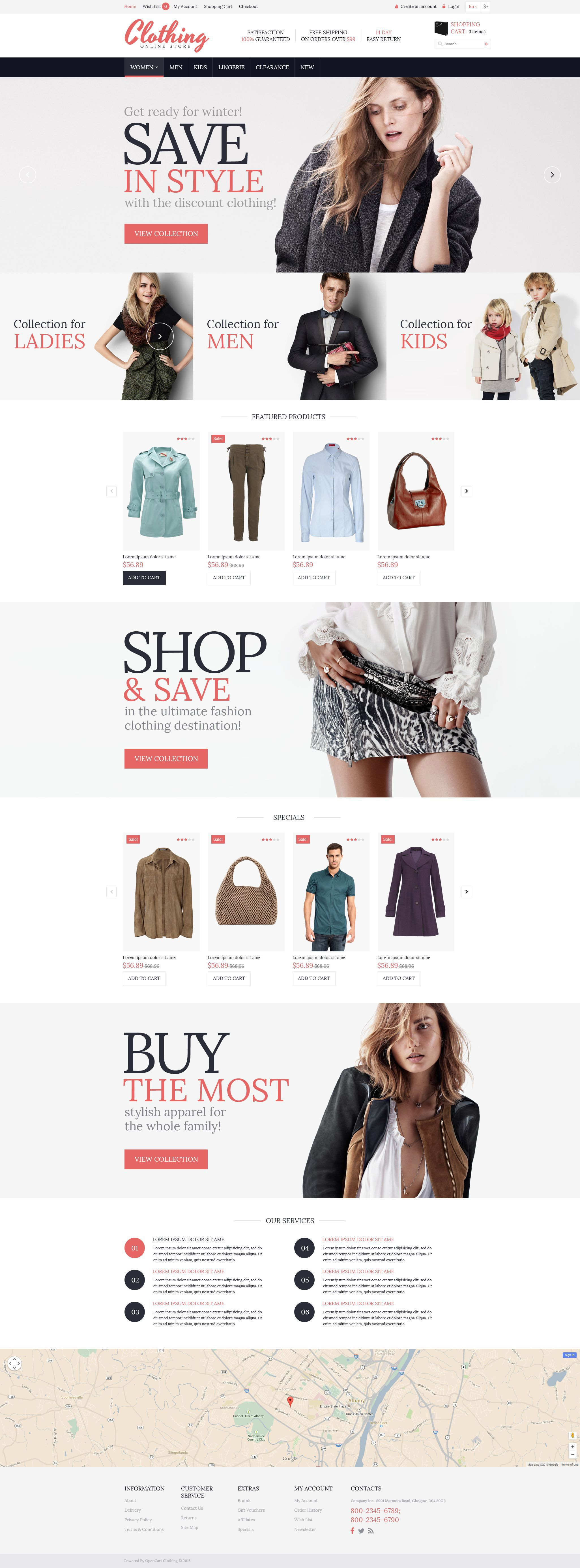 Website To Design Clothes For Free   Clothing For Everyone Opencart Template New Website Templates