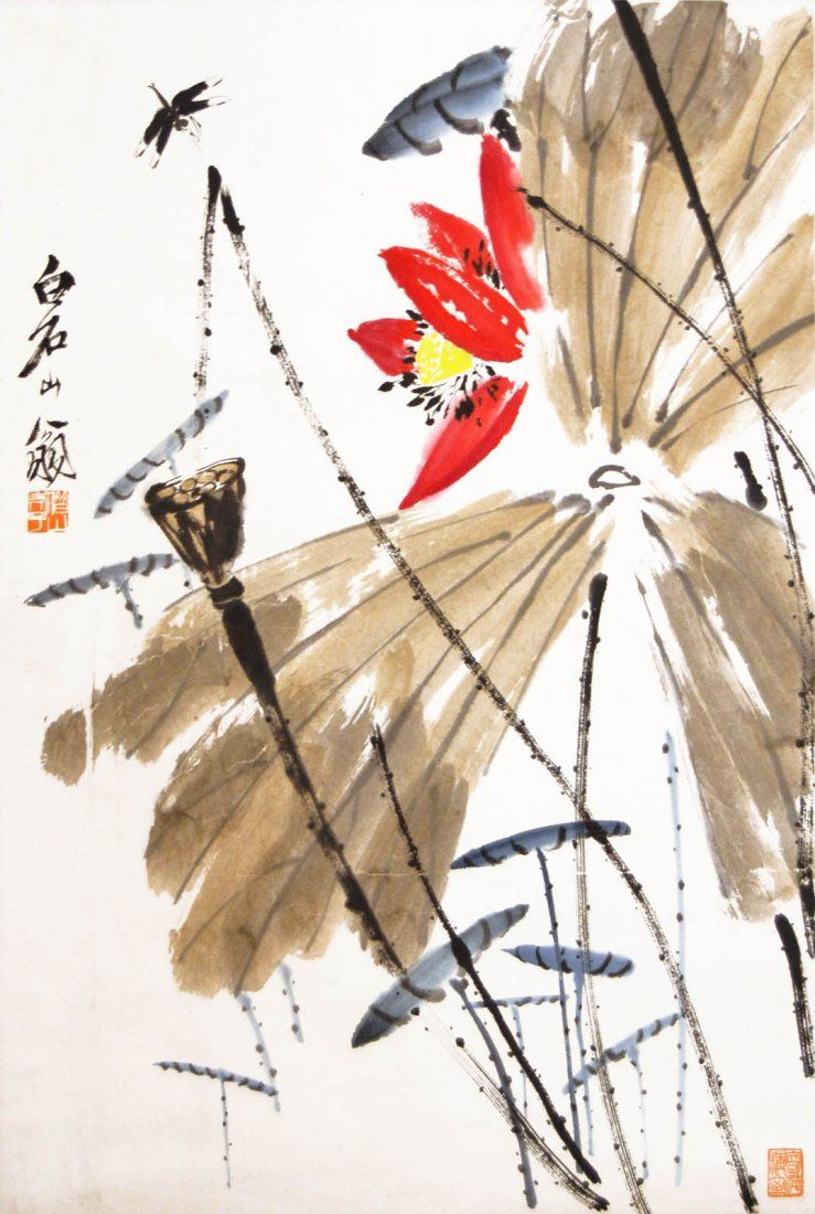 Qi Baishi Famous Contemporary Chinese Painter Zen Painting