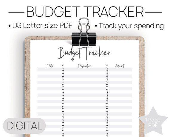 Printable Budget Tracker No Spend Tracker, Budget Template