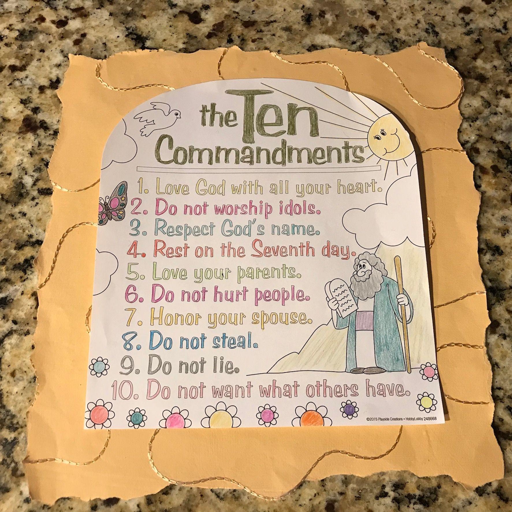 Ten Commandments Scroll