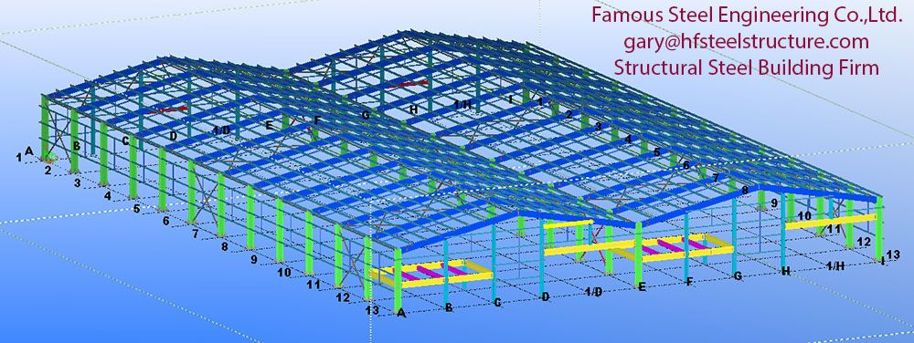 3D Tekla Model for Detailing of Supermarket Project | Steel