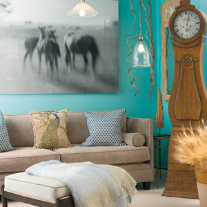 Benjamin Moore Mexicali Turquoise Possible laundry room & mud bench ...