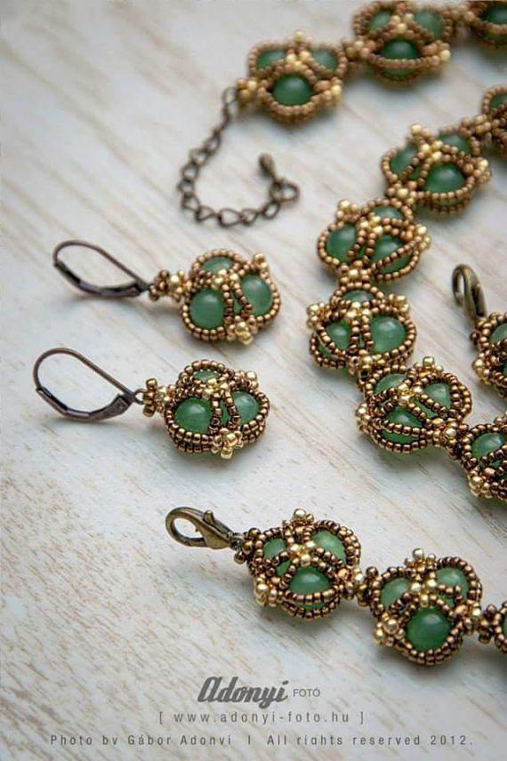 PATTERN of the vintage jade jewellery set - TUTORI