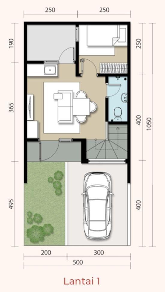 44 Desain Rumah Minimalis 5x10 2 Lantai