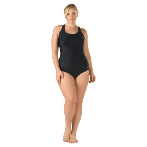 683e5432f6a80 Speedo Women s Solid Moderate Ultraback Plus Size 1-Piece Swimsuit (Black