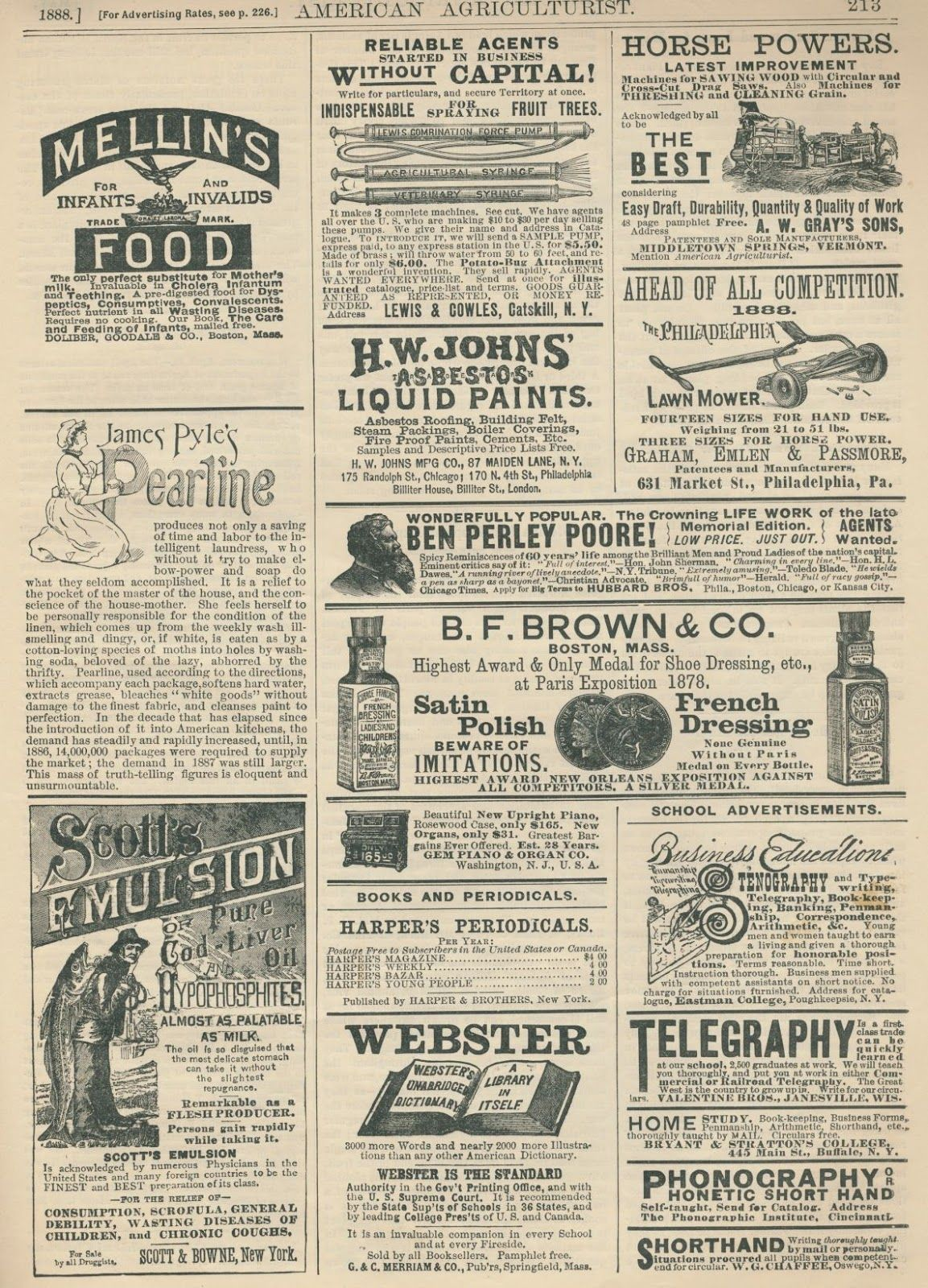 Clearly Vintage A Few More Pages From American Agriculturist May 1888 Vintage Newspaper Old Paper Background Vintage Paper