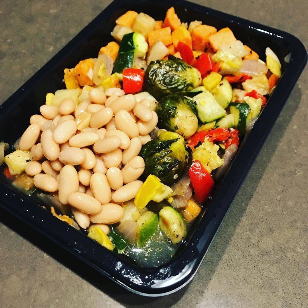 Added Beans To This Trader Joes Thanks Giving Veggie Side Dish Healthyhappy Healthybalance Intuitiv Veggie Side Dishes Vegan Mac And Cheese Healthy Recipes