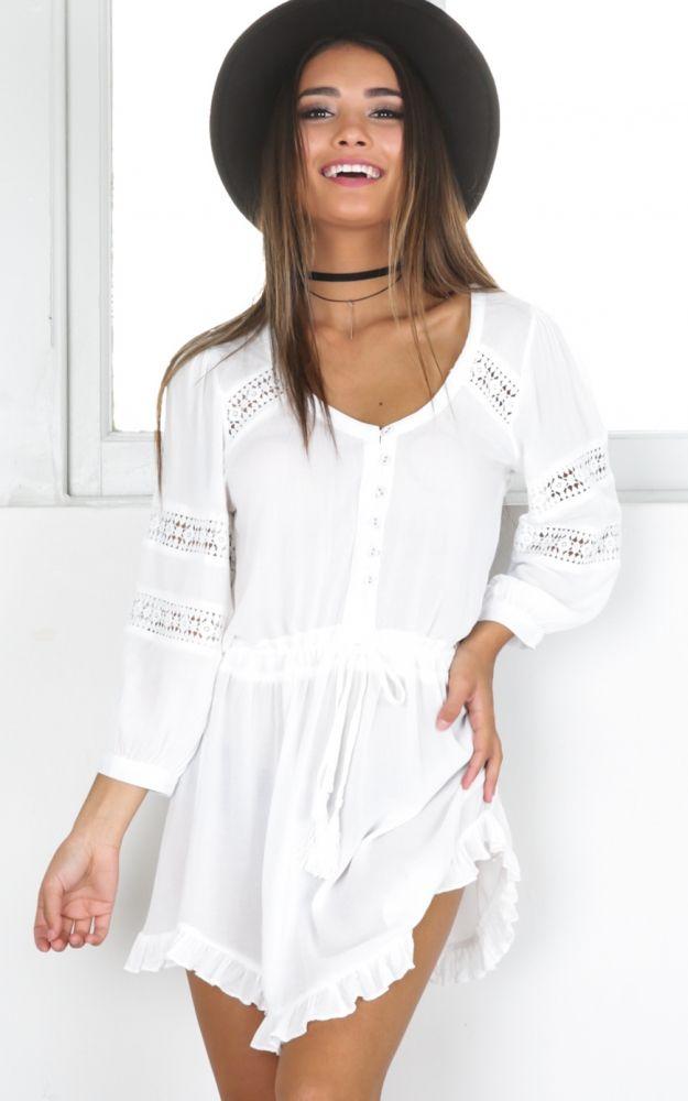 9981d90e40c4 In The Past dress in white SHOWPO Fashion Online
