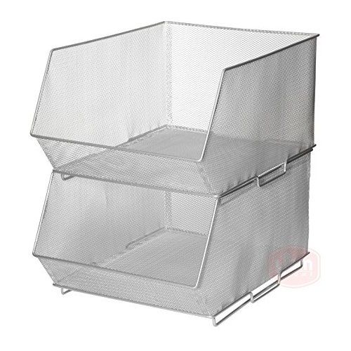 Beau Ybmhome Mesh Stacking Bin Silver Storage Containers Pantry Organizers Great  For Food, Crafts, Cleaning