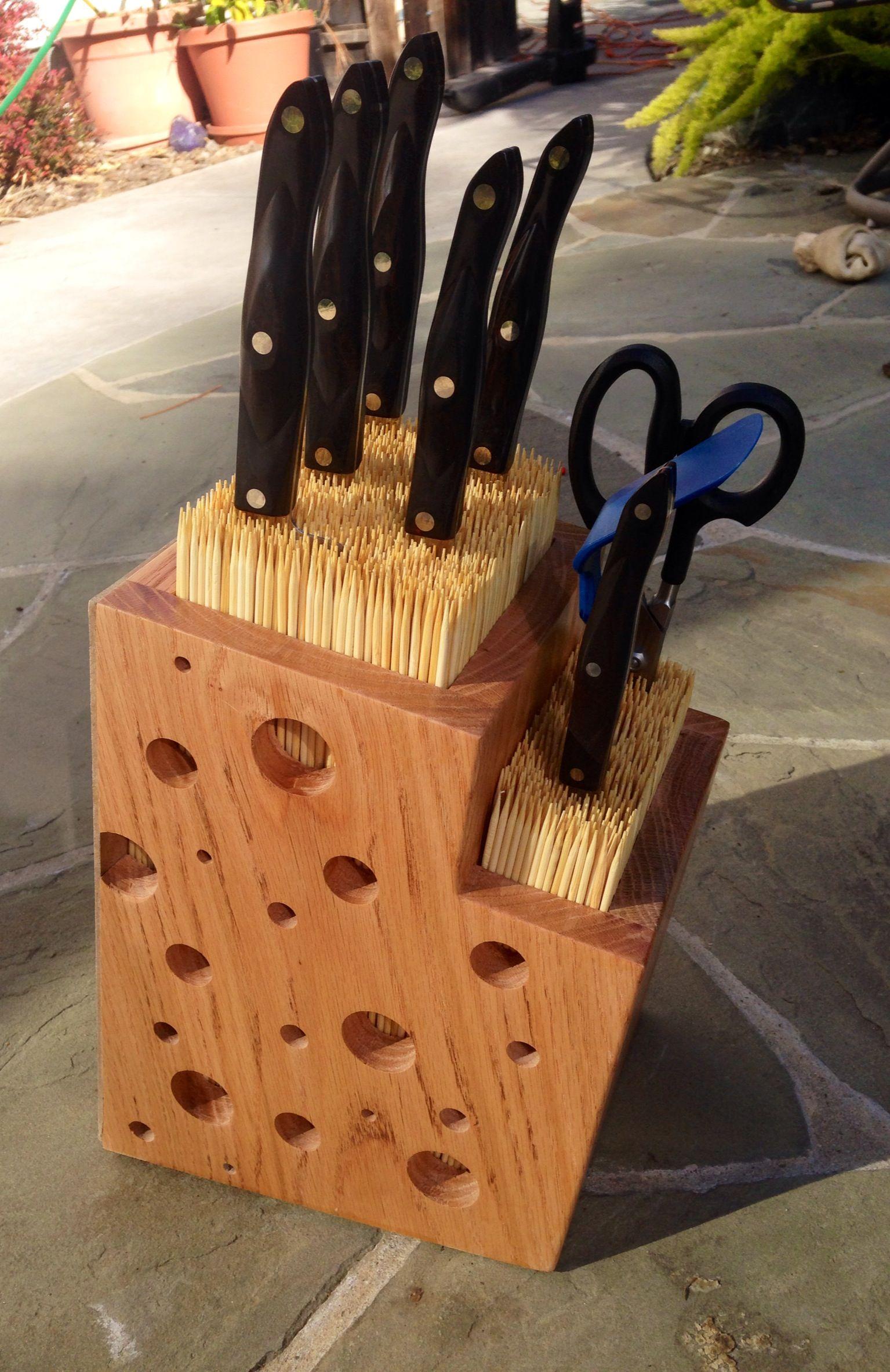 Universal knife block - Imgur | DIY | Pinterest | Madera, Cuchillos ...