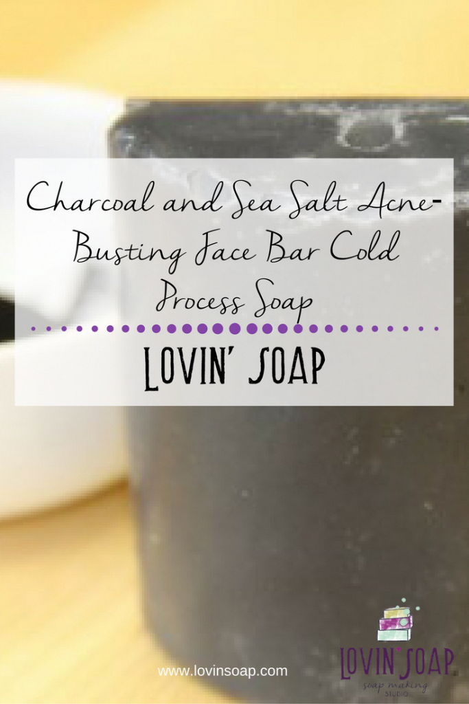Charcoal and Sea Salt AcneBusting Face Bar Cold Process