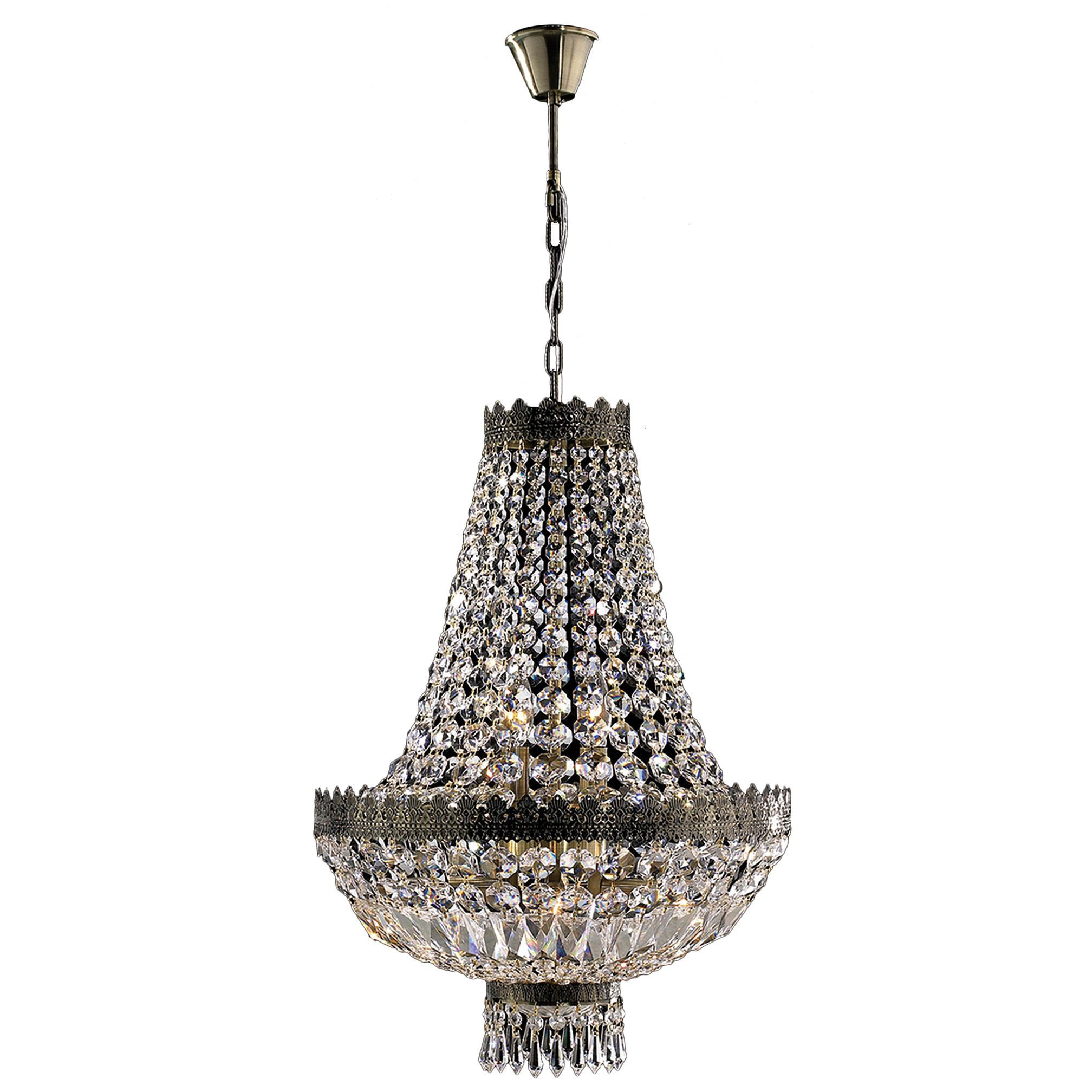 Metro candelabra light antique bronze finish and clear crystal