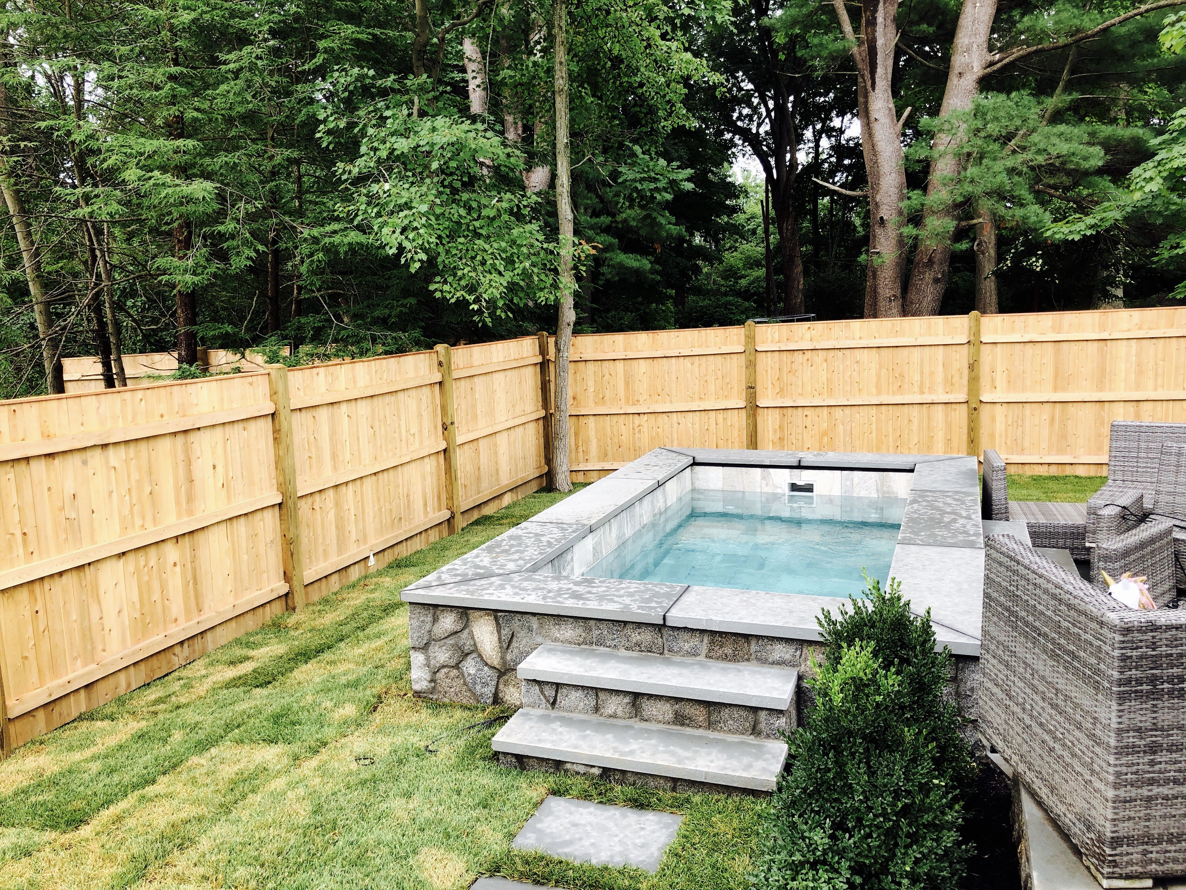 Maximize Your Small Backyard With A Soake Pool Built To Your Specifications Plunge Pool Backyard Pool Parties Small Backyard Pools
