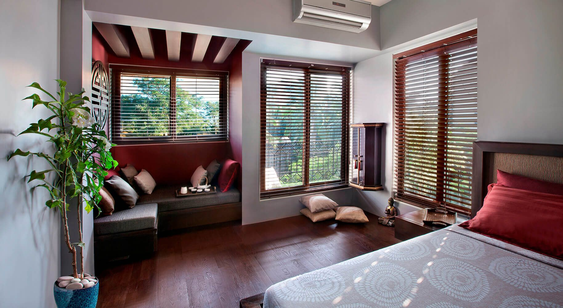 Asian style window seat designs