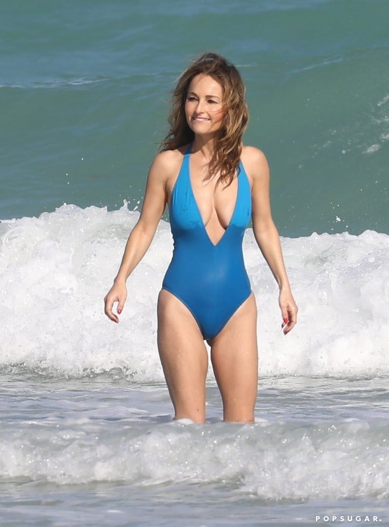 59ca0a4619 Giada De Laurentiis Sizzles in a Sexy Swimsuit During a Fun Miami ...