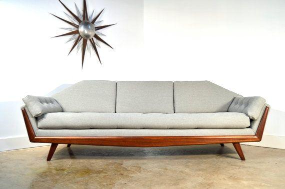 Adrian Pearsall Sofa Mid Century Modern Gondola Style Couch, NEW Kvadrat  Upholstery